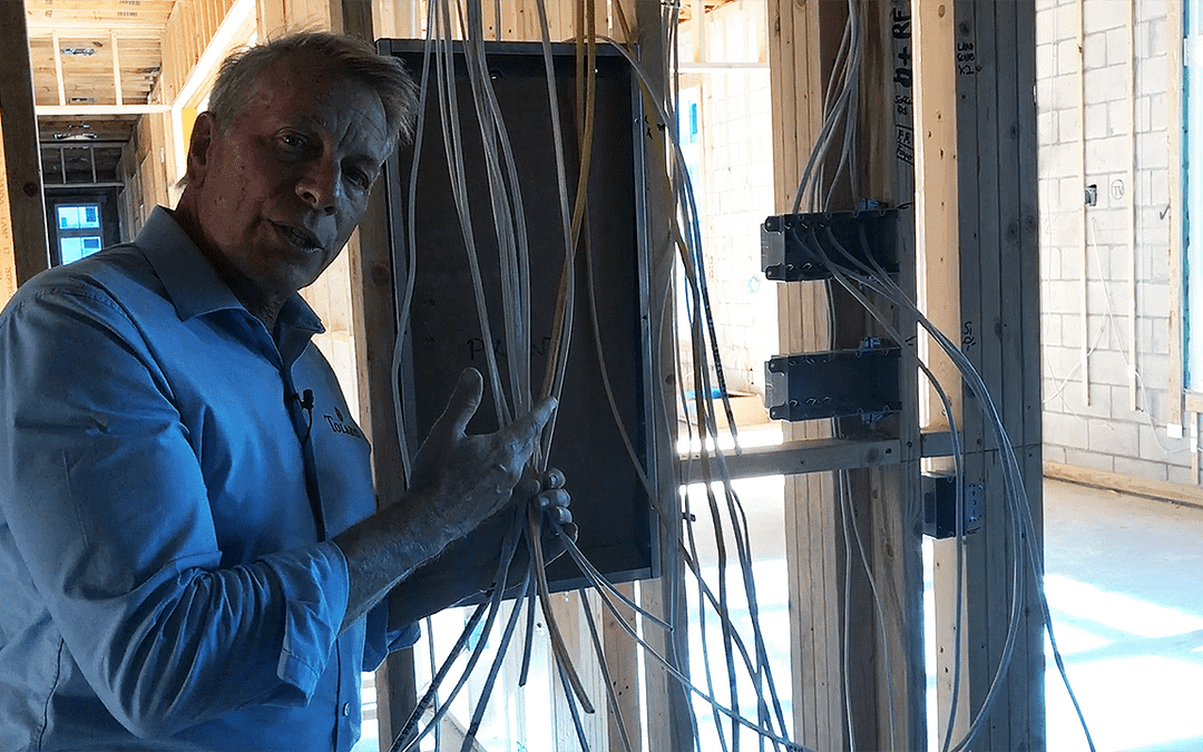 Rough Electrical at a New Custom Home